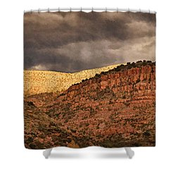 View From A Train Pnt Shower Curtain