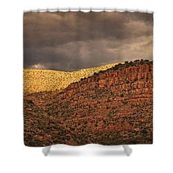 View From A Train Txt Shower Curtain
