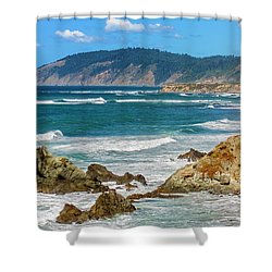 View From Abalone Point Shower Curtain
