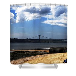 View From Across The Tagus Shower Curtain by Lorraine Devon Wilke