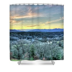 Shower Curtain featuring the photograph View From Biltmore by Wade Brooks