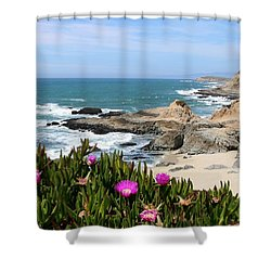 View From Bodega Head In Bodega Bay Ca - 3 Shower Curtain