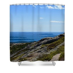 View From Cadillac Mountain Shower Curtain