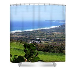 Shower Curtain featuring the photograph View From Cherry Hill, Barbados by Kurt Van Wagner