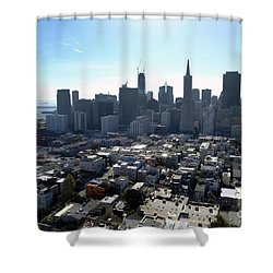 Shower Curtain featuring the photograph View From Coit Tower by Steven Spak