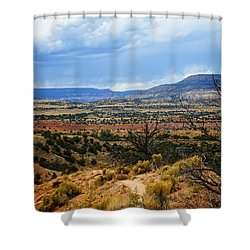 Shower Curtain featuring the photograph View From Ghost Ranch, Nm by Kurt Van Wagner