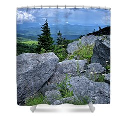 View From Grandfather Mtn Nc Shower Curtain