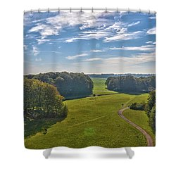 View From Lilac Mountain Shower Curtain