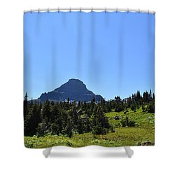 Shower Curtain featuring the photograph View From Logan's Pass by Dacia Doroff