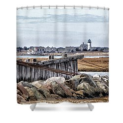 View From Mill Creek - Cold Shower Curtain by Constantine Gregory