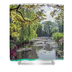 View From Monet's Bridge Shower Curtain