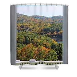 View From Moses Cone 2014b Shower Curtain
