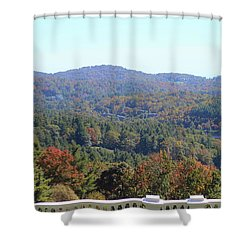 View From Moses Cone 2014c Shower Curtain