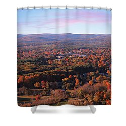 View From Mount Tom In Easthampton, Ma Shower Curtain