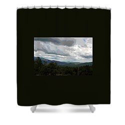 Shower Curtain featuring the photograph View From Mount Washington IIi by Suzanne Gaff