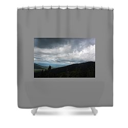Shower Curtain featuring the photograph View From Mount Washington  by Suzanne Gaff