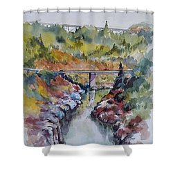 View From No Hands Bridge Shower Curtain
