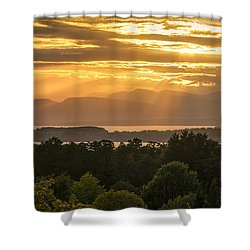 View From Overlook Park Shower Curtain