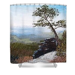 View From Pilot Mountain Shower Curtain by Tami Booher