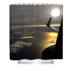 View From Plane  Shower Curtain