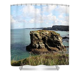Shower Curtain featuring the photograph View From Porth Peninsula by Nicholas Burningham