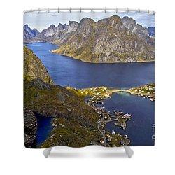 View From Reinebringen Shower Curtain