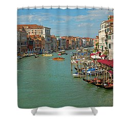 Shower Curtain featuring the photograph View From Rialto Bridge by Sharon Jones