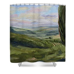 View From Sienna Shower Curtain by Jay Johnson