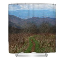 View From Silers Bald 2015a Shower Curtain