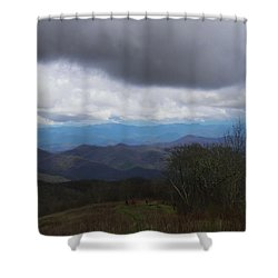 View From Silers Bald 2015b Shower Curtain