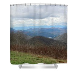 View From Silers Bald 2015c Shower Curtain