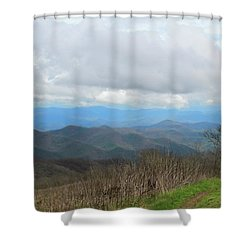 View From Silers Bald 2015d Shower Curtain