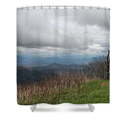 View From Silers Bald 2015e Shower Curtain
