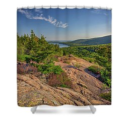 View From South Bubble Shower Curtain by Rick Berk
