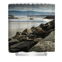 View From The Beach Shower Curtain by Betty Depee