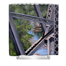 View From The Bridge--sedona, Az Shower Curtain by Mary McCullah