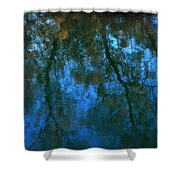 Water Show Blue Shower Curtain