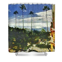 Shower Curtain featuring the photograph View From The Castle by Joseph Hollingsworth