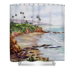 View From The Cliff Shower Curtain