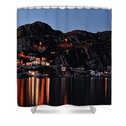 View From The Harbor St Johns Newfoundland Canada At Dusk Shower Curtain