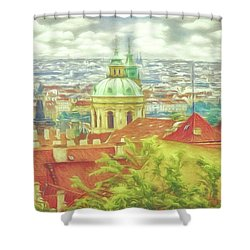 View From The High Ground - Prague  Shower Curtain