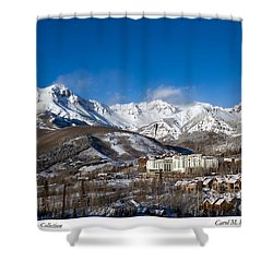 View From The Mountain Above Telluride Shower Curtain