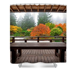 View From The Pavilion Shower Curtain