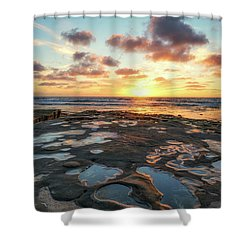 View From The Reef Shower Curtain by Joseph S Giacalone