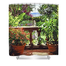 View From The Royal Garden Shower Curtain