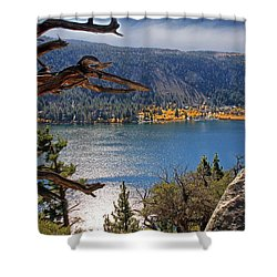 Shower Curtain featuring the photograph View From The Top Of June Lake by Donna Kennedy