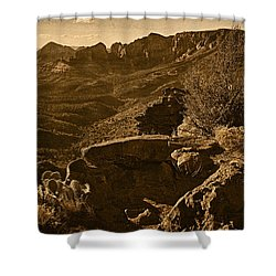 View From The Top Tnt Shower Curtain