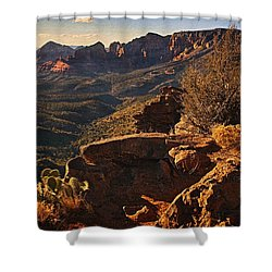 View From The Top Txt Shower Curtain
