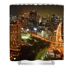 View From Tokyo Tower Shower Curtain