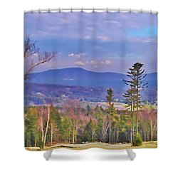 View From Von Trapps Lodge 1 Shower Curtain by Bill Cannon
